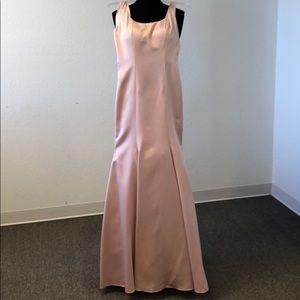 Blush pink satin gown
